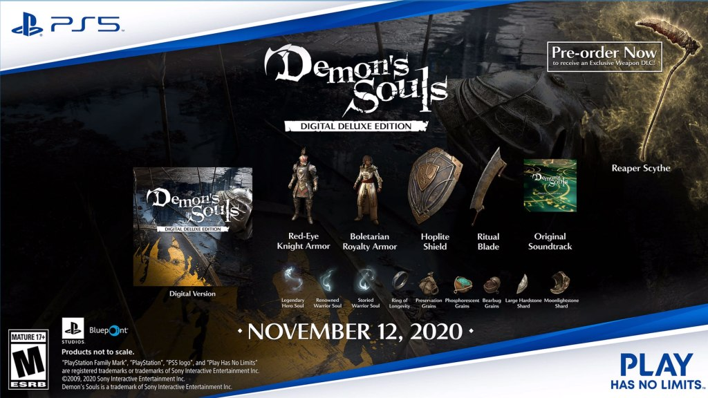 Demon's Souls Digital Deluxe Edition and pre-order information.