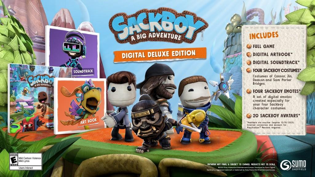 Sackboy: A Big Adventure Digital Deluxe Edition details.