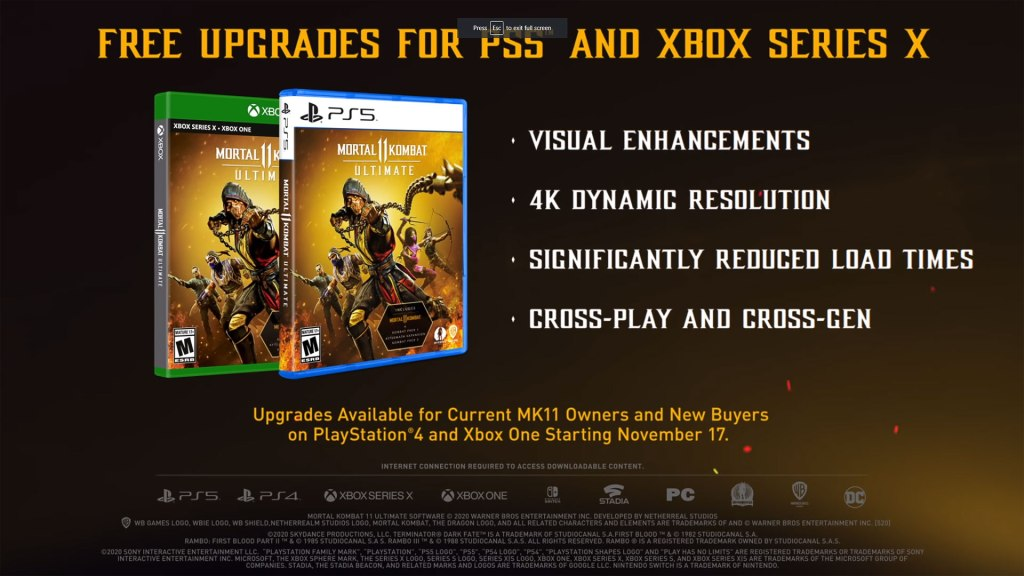 Free Upgrades for PS5 and Xbox Series X.