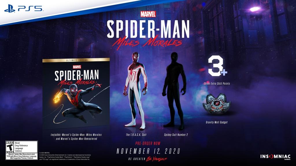 Spider-Man: Miles Morales Ultimate Edition pre-order information